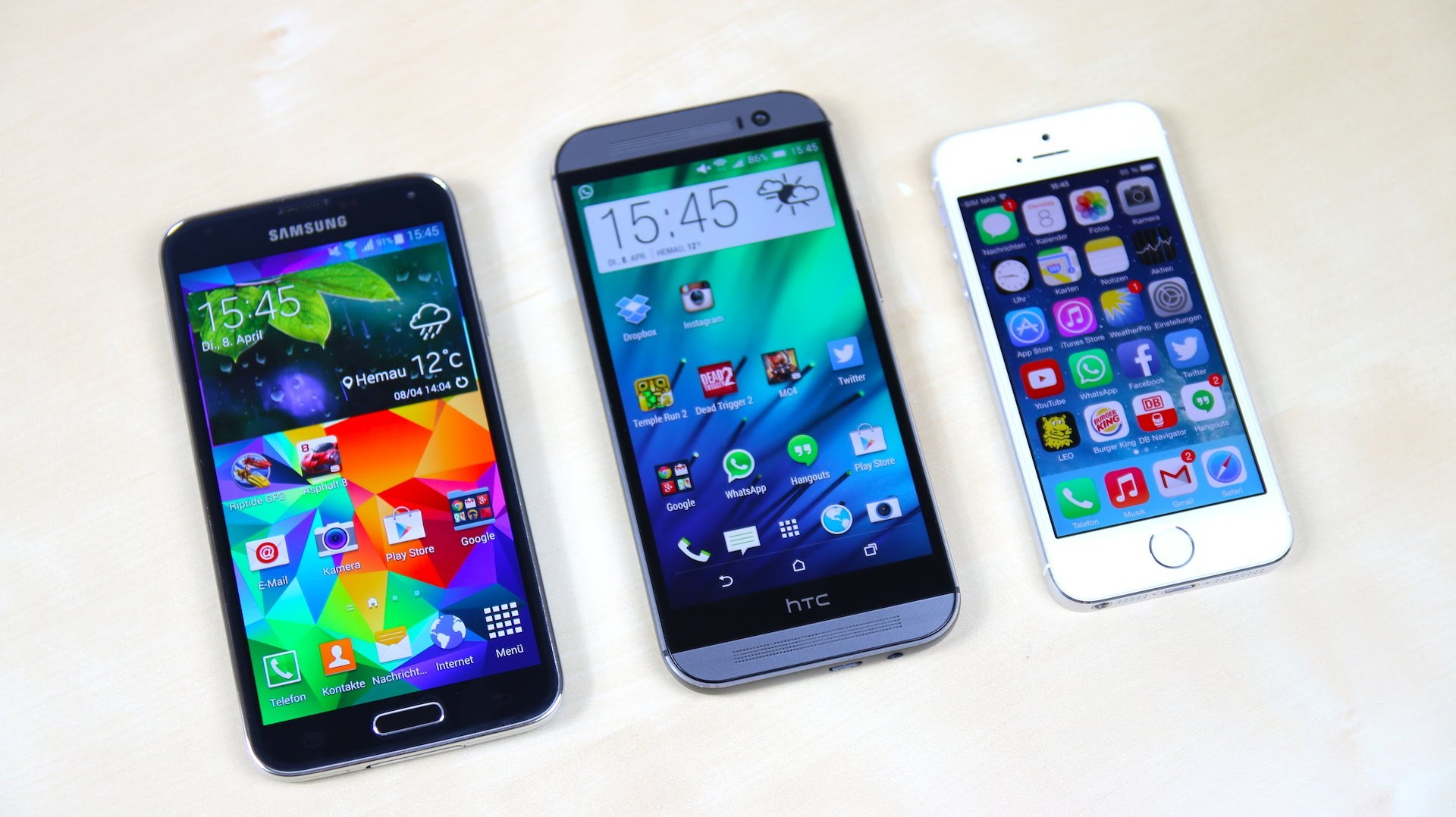 HTC main - HTC One M8 Contests Galaxy S5 and iPhone 5S in Performance