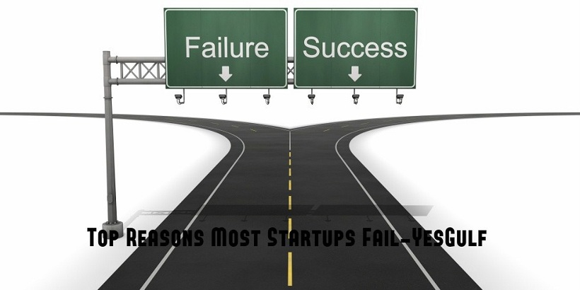 Top reasons most startups fail-successful entrepreneurs-YesGulf