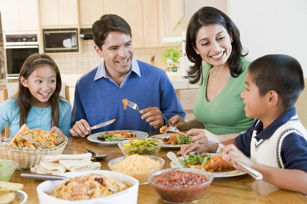 Family Enjoying meal,mealtime Together-parenting tips and advice-YesGulf