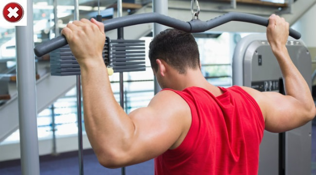 Avoid Lat pulldown