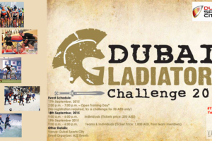 Dubai Gladiator Challenge 2015, A2Z Events hosting, upcoming event in Dubai, Dubai Event calendar 2015, Dubai Sports City events-YesGulf