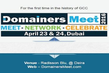 Domainers Meet 2016 feature image 370x247 - Domainers Meet Conference 2016, Dubai