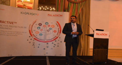 Firosh Ummer Managing Director of EMEA at Paladion addressing the gathering at Doha 400x213 - Paladion's Cyber Security Conference Concluded in Qatar