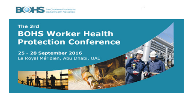 news1 - 3rd BOHS Worker Health Protection Conference, Abu Dhabi, 2016