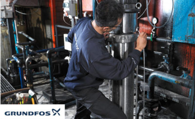 Pump inspection Grundfos 1 400x244 - Grundfos to Embark on a Drive for Waste Management & Recycling Its Pumps