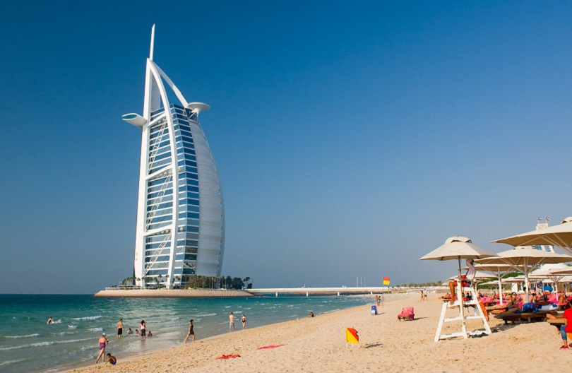 best beach in dubai, burj al arab
