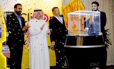"""His Excellency Dato  Ahmad Anwar Adnan Ambassador of Malaysia to the UAE launches  MyLight  rechargeable LED flashlight 400x242 - Clikon Launches """"Mylight"""" Rechargeable LED Flashlight"""