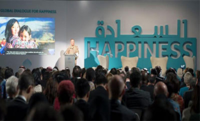 His Excellency Prime Minister of Bhutan Tshering Tobgay speaks on  The Role of Government in Achieving Happiness  during the Global Dialogue of Happiness 400x242 - UAE Sets Global Framework for Governments to Prioritize Happiness as Key Measure of Progress & Development