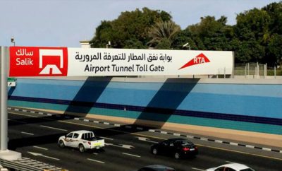 RTA Airport Tunnel Toll Gate in Dubai 400x242 - TransCore Granted an Additional Five-Year Contract Extension on Salik Toll System in Dubai