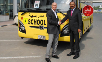 RoadSafetyUAE Thomas Edelmann left STS Colonel Augustine right 400x242 - 'The Extended Classroom' – Children Road Safety Partnership between STS and Roadsafetyuae