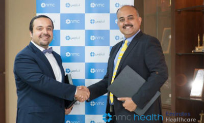 Yazen Abu Gulal CEO of KBBO Group and Emirates Hospital Chairman and CEO of NMC Health Prasanth Manghat during the Contract Signing 400x242 - NMC Health to Operate and Manage Emirates Healthcare Assets