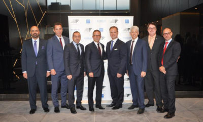 The First Group s Co founder Danny Lubert centre and Wyndham Regional VP MENA Ignace Bauwens attend the ribbon cutting ceremony for TRYP by Wyndham Dubai 400x242 - The First Group Marks Hotel Portfolio Milestone with Completion of TRYP by Wyndham Dubai