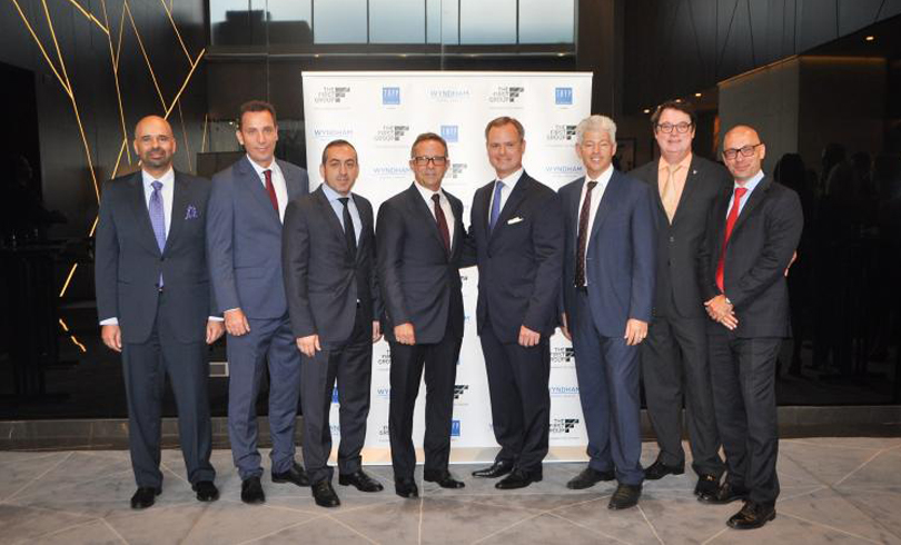 The First Group s Co founder Danny Lubert centre and Wyndham Regional VP MENA Ignace Bauwens attend the ribbon cutting ceremony for TRYP by Wyndham Dubai - The First Group Marks Hotel Portfolio Milestone with Completion of TRYP by Wyndham Dubai