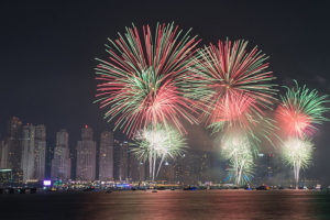 11 300x200 - fireworks in UAE on the new year's eve 2018
