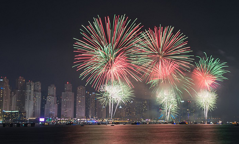 11 - fireworks in UAE on the new year's eve 2018