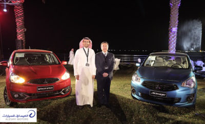 Bandar Saeed Alesayi and Masahiko Takahashi Pgoto AETOSWire 1514442073 400x242 - Alesayi Motors Launch Mitsubishi Attrage, the New Eco-Friendly Compact Sedan