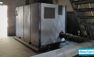 Atlas Copco ZS 160 screw blower at Union Cements FactoryPhoto AETOSWire 1518325421 400x242 - ZS Screw Blowers Lower Energy Consumption & CO2 Footprint for Union Cements