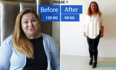 Dina 39 struggled with weight gain for 7 years now sheds 22 kg in less than 12 weeks Photo AETOSWIRE 1517406691 400x242 - Blogger sheds 22 kg in less than 12 weeks thanks to CosmeSurge