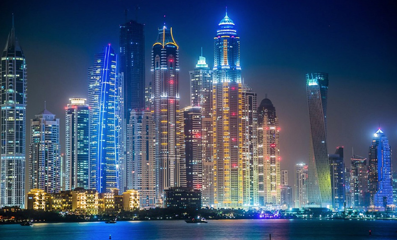 dubai at night - Yesgulf