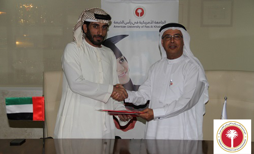 AURAK President Prof Hassan Hamdan Al Alkim and Al Nuaimi Group CEO Mr Rashed Abdulla Ahmed enter into MOU Photo AETOSWire 1520151474 2 - AURAK Enters MOU with Al Nuaimi Group