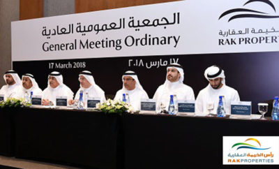 Annual General Meeting Of RAK Properties Photo AETOSWire 1521459052 400x242 - RAK Properties' AGM Approves Increase of Cash Dividends To 6% For 2017