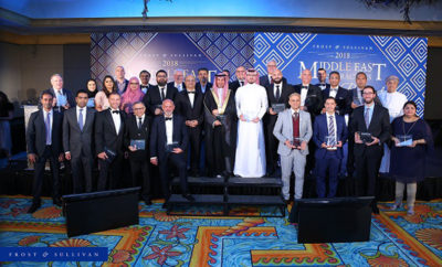 2018 ME Award Recipients Group Photo AETOSWire 1526377200 400x242 - Frost & Sullivan's 2018 Middle East Best Practices Awards Banquet Honours Establishments Driving Innovation and Excellence in the Middle East