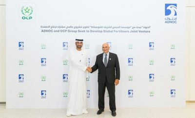 ADNOC and OCP Broaden Their Partnership and Intend to Develop a Global World Class Fertilizers Joint Venture Photo 1 AETOSWire 1526385782 400x242 - ADNOC and OCP Broaden Their Partnership and Intend to Develop a Global World-Class Fertilizers Joint Venture
