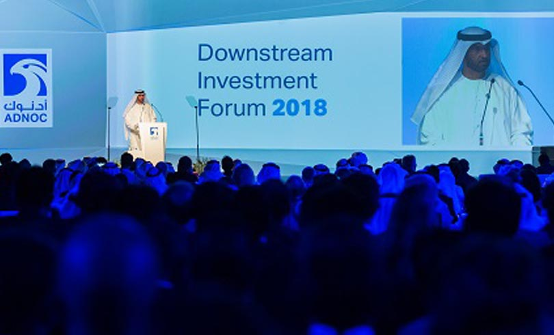 Speaking at the ADNOC Downstream Investment Forum Photo AETOSWire 1526225740 - ADNOC and OCP Broaden Their Partnership and Intend to Develop a Global World-Class Fertilizers Joint Venture