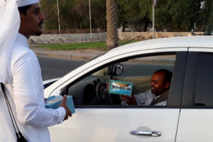 Image 1 300x200 - Sealine Beach Resort volunteers distribute  iftar for motorists in Mesaieed and Al Wakrah