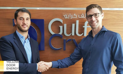 Lease Signing Gulf Cryo Arabian Industrial GasesPhoto AETOSWire 1528182420 400x242 - Solar Power Arriving in Dubai's Leading Dry Ice and Industrial Gas Producer