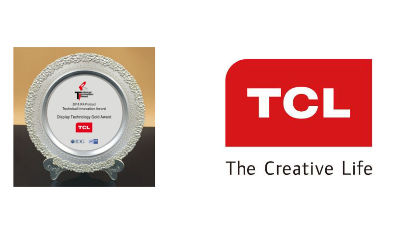 TCLlogo 1536059698 - TCL Wins Prestigious Display Technology Gold Award at IFA 2018